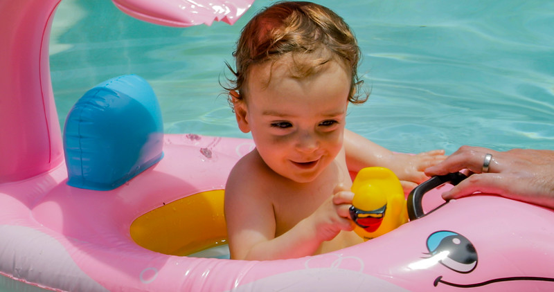 Ethan in the Pool