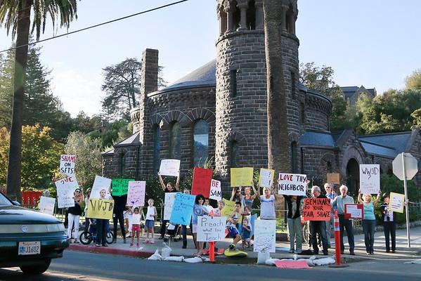 Seminary Protest