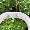 .52ctw Carre Cut Diamond Stud Earrings 1