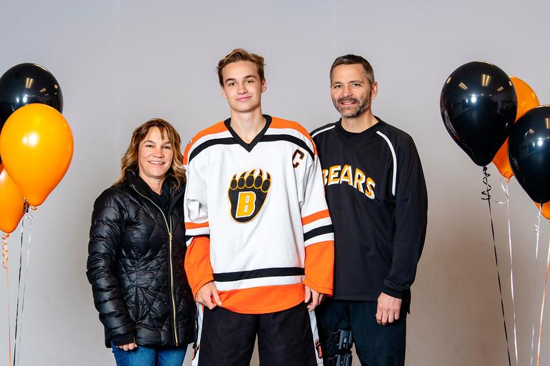 JGA Parent/Player Pictures Senior Night