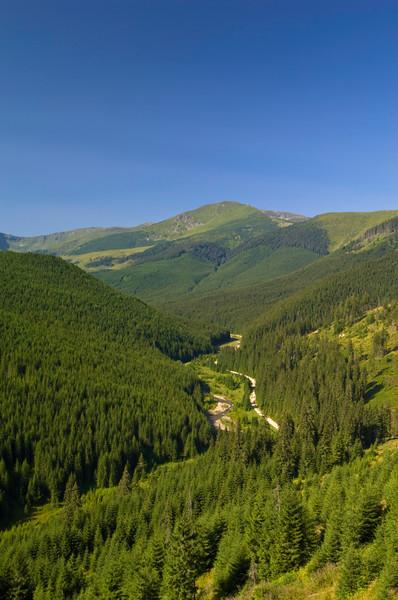 Rodna mountains and Bistritsa River, Romania