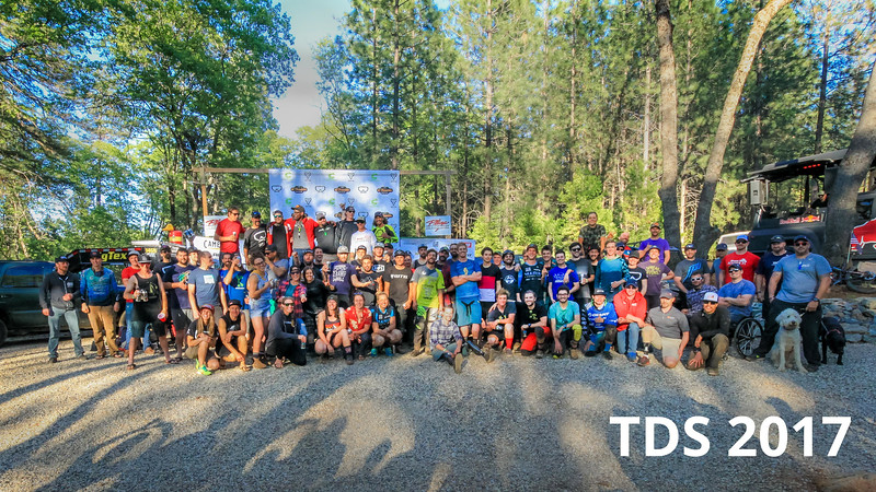 All the riders gather for a final group shot. Individual pictures of the weekend are avialable at http://www.mikeoitzmanphotography.com/Mountain-Biking/The-Dirty-Sanchez-Enduro-2017/
