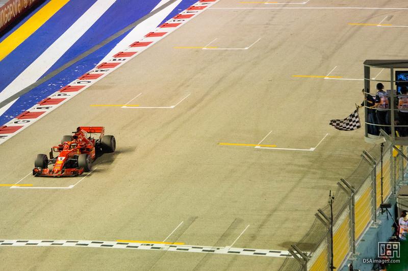 Sebastian Vettel taking third place (Scuderia Ferrari)