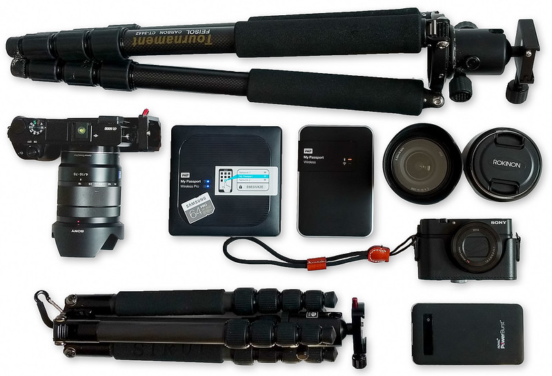 Backup for Travel Photographers - My travel setup