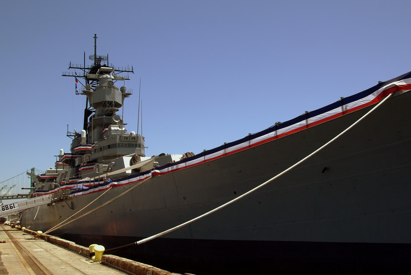 View of the USS Iowa.