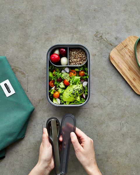 Stainless Steel Sandwich Box Large Black Blum