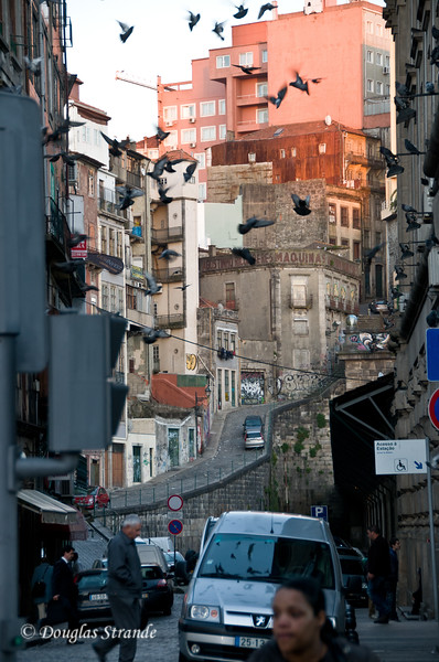Fri 3/18 in Porto: A steep and narrow street