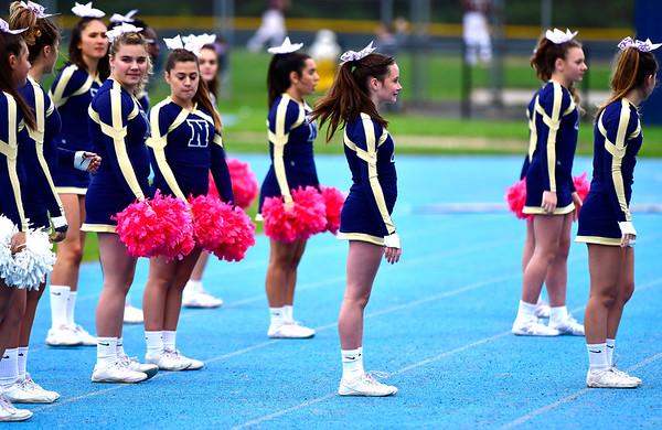 10/12/2019 Mike Orazzi | Staff Newington High School Cheerleaders during Saturday's football game with Platt in Newington.