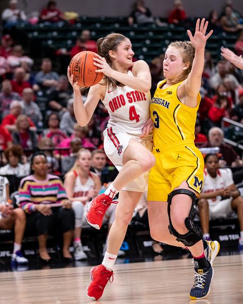 Big Ten Women's Tourney Michigan vs Ohio State
