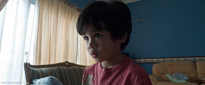Idlan before his haircut.