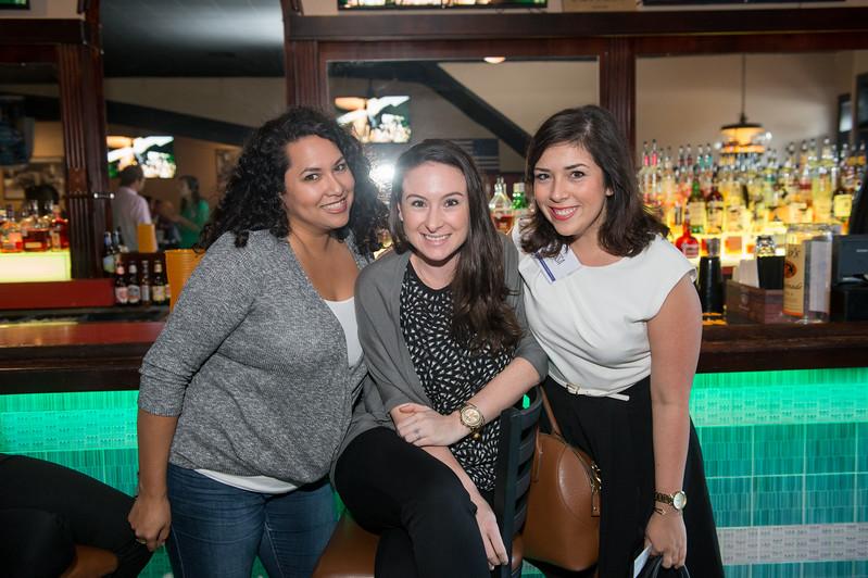 Sammie Ramon(left) Nicole Olivares and Alyssa Barerra at the CCU40 kick off event in Corpus Christi, Tx.