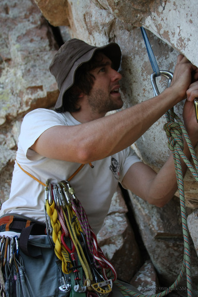 Andrew making an anchor at Mt Stuart, Townsville. Photo by Trent Williams