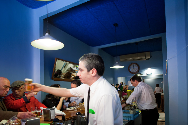 Interior of Eslava Restaurant, Seville, Spain
