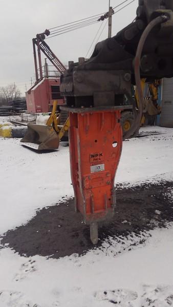 NPK PH4 hydraulic hammer on Gradeall, cleaning slag pot, Monroe, MI  1-19 (1).jpg