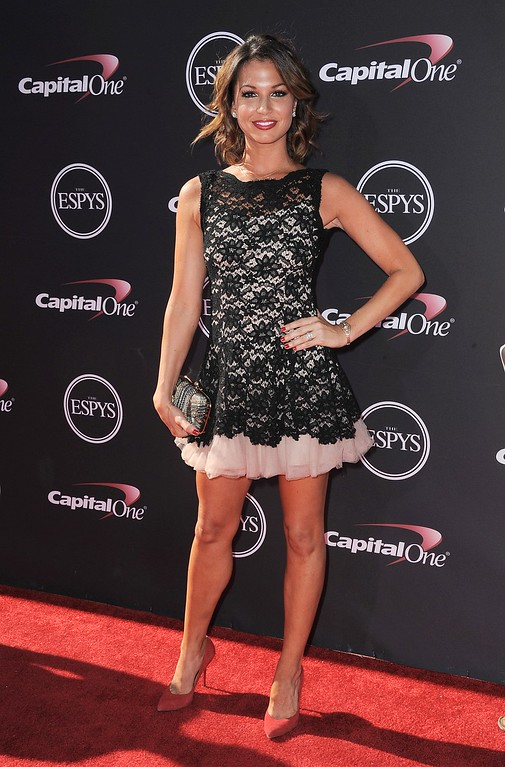 . TV personality Melissa Rycroft arrives at the ESPY Awards on Wednesday, July 17, 2013, at Nokia Theater in Los Angeles. (Photo by Jordan Strauss/Invision/AP)