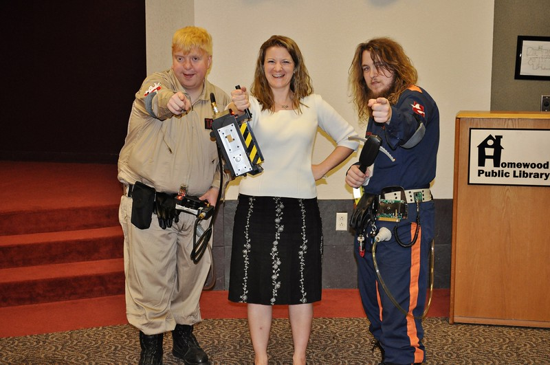 Ghost Busters & Heather & the gear.jpg