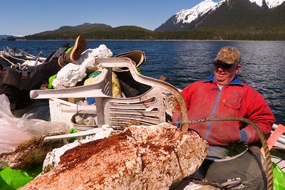 There Is A Boat Under All The Junk May 2013, Cynthia Meyer, Chichagof Island, Alaska