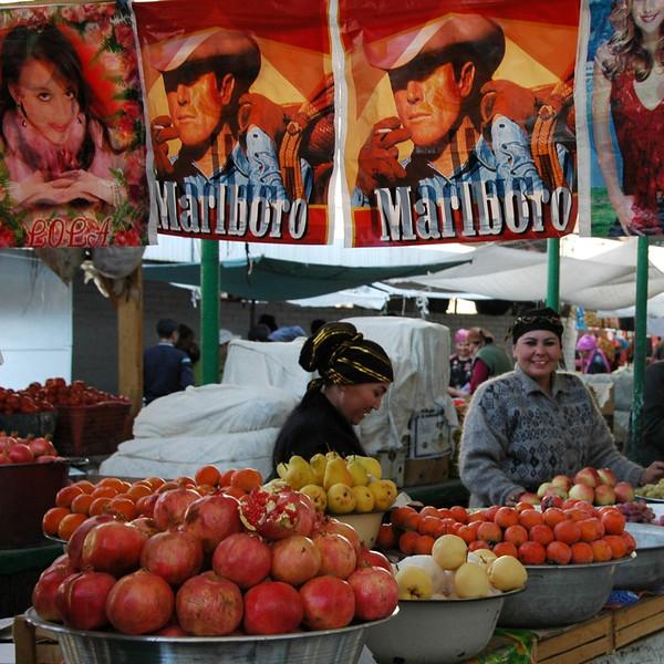 Fruit Vendors at Osh Market, Kyrgyzstan