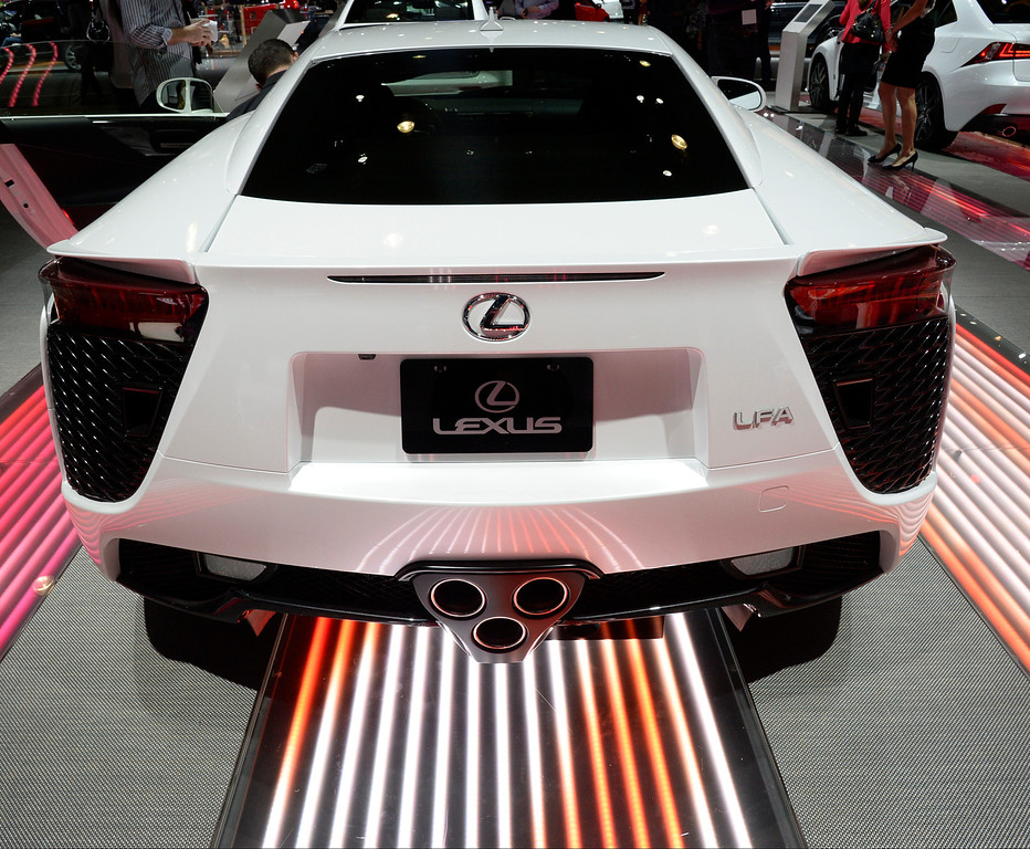 . Nov 20,2013 Los Angeles CA. USA. Lexus LFA concept car on display during the 2013 Los Angeles Auto Show. Photo by Gene Blevins/LA Daily News