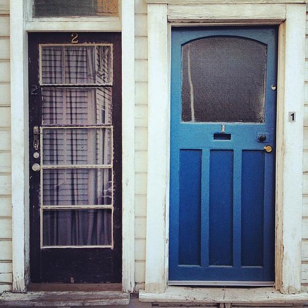Favorite doorway candidate #18 - Christchurch, New Zealand. Urban bach complex, Worcester Blvd. #doorwayporn