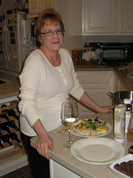 Linda dined in the kitchen with the other domestic help.