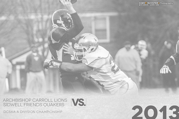 DCSAA  A Division Football Championship: Carroll vs. Sidwell
