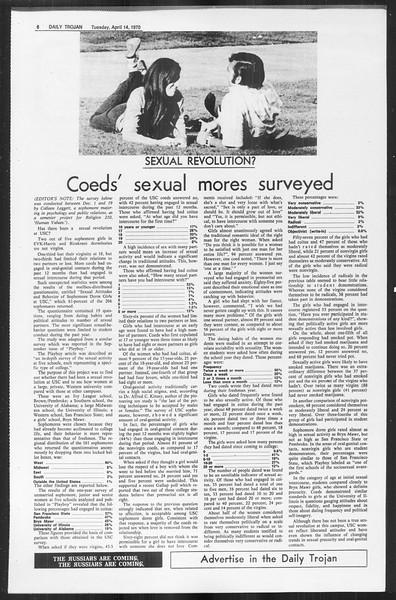 Daily Trojan, Vol. 61, No. 105, April 14, 1970