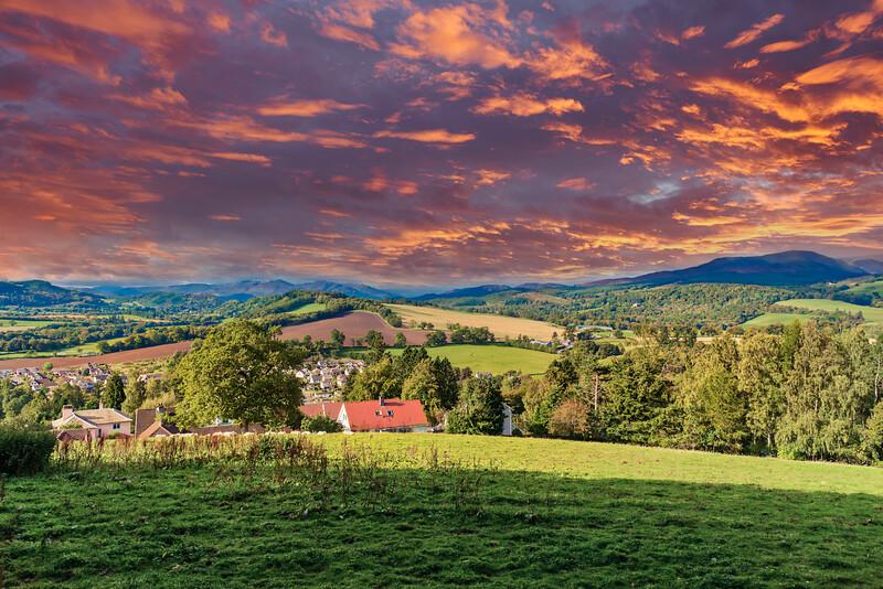 Crieff Hillside Perthshire Scotland