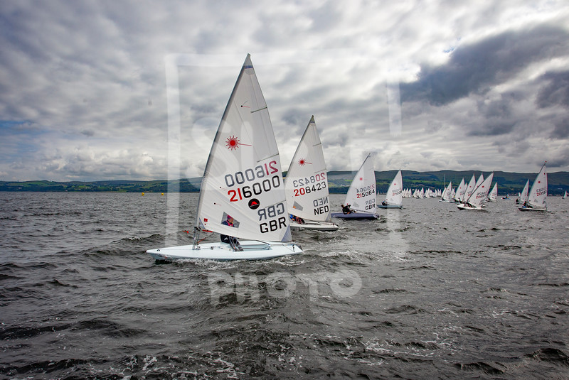 Action from the UK Laser championships at Largs, Ayrshire, Scotland between 27th July 2019 and 3rd August 2019. Picture  Friday 2nd August 2019