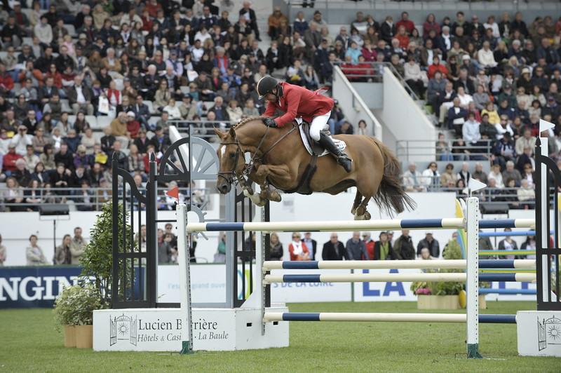 JUMPING : Philippe LE JEUNE sur Vigo D Arsouilles STX COUPE DES NATIONS 2012 -  CSIO DE LA BAULE 2012 - PHOTO : © CHRISTOPHE BRICOT
