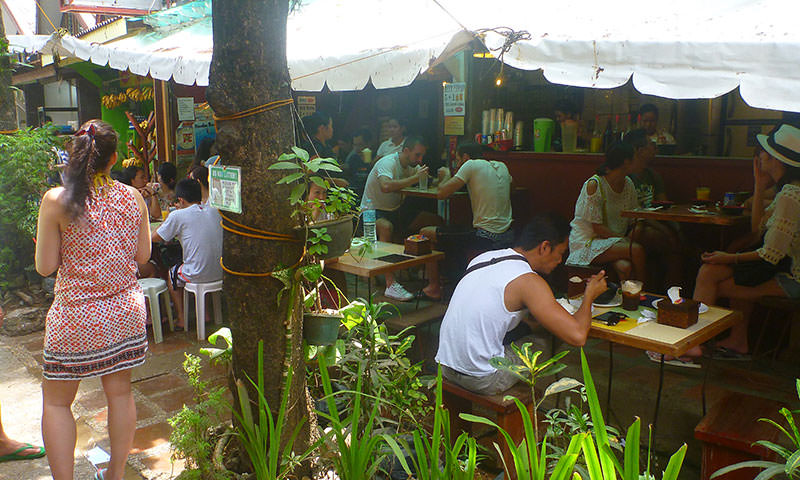 Filipina Restaurant on Boracay Island, Philippines