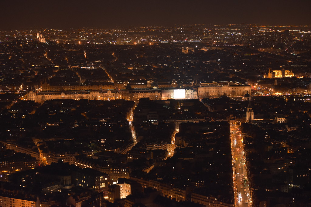 View of Paris, France from Montparnasse Tower