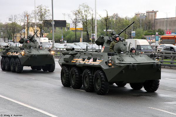 May 5th rehearsal of 2014 Victory Day Parade in Moscow