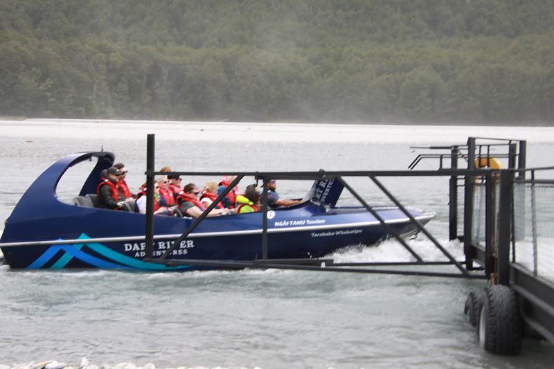 Jet boat on the Dart River