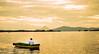 Boat in the isletas of Granada.  (Ometepe is in the distance)