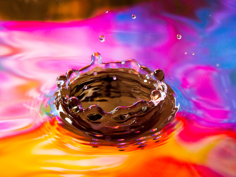 Colorful Splash Crown