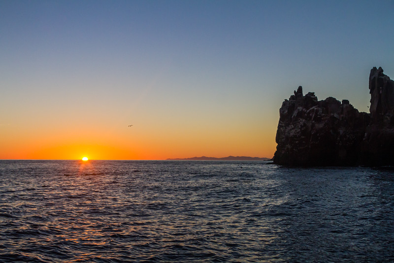 Sunset view of rock and sea - Mexico