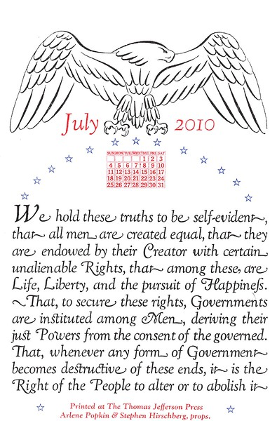 July, 2010, Thomas Jefferson Press
