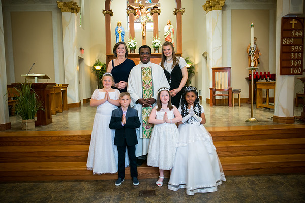 First Communion at St. Mary's 2018