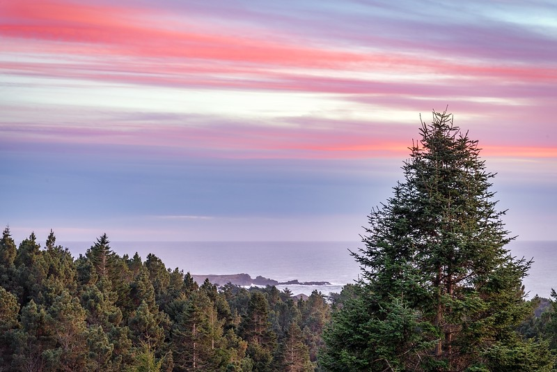 Sunset View of Black Point in Sea Ranch