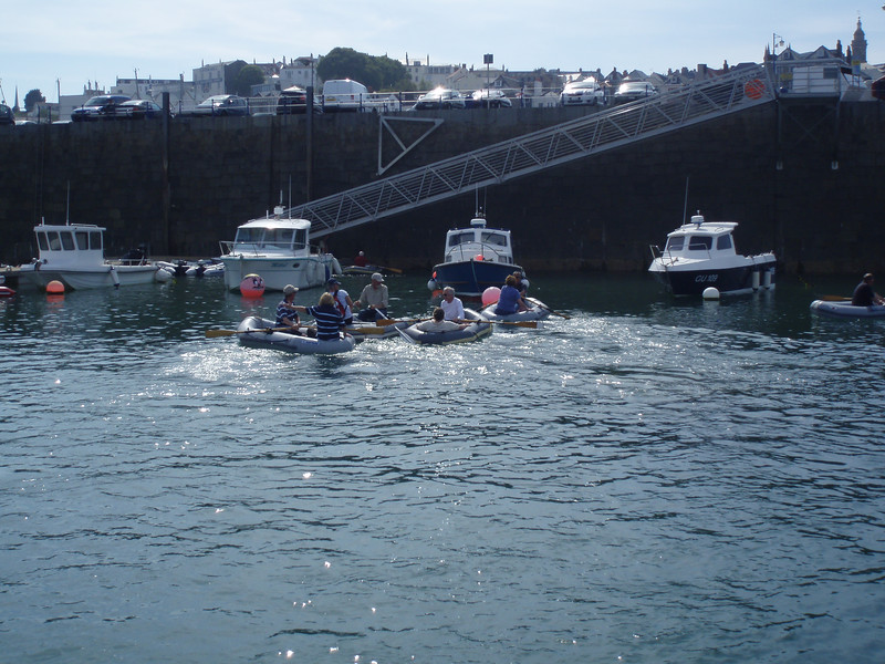 The Dinghy Rowing Race in St Peterport