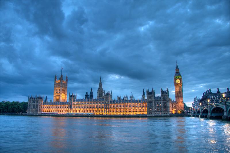 Ominous Skies. London, England.