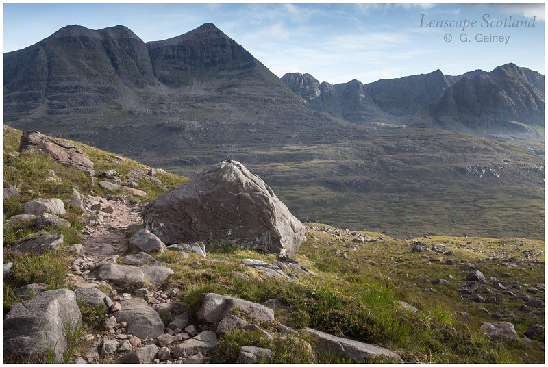 Liathach from the track to Corrie Mhic Fhearchair