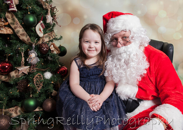 Christmas-Chloe with Santa