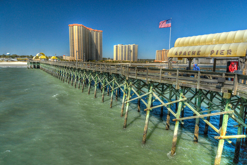 The Apache Pier at the Apache Campground in Myrtle Beach, SC on Tuesday, March 6, 2012. Copyright 2012 Jason Barnette