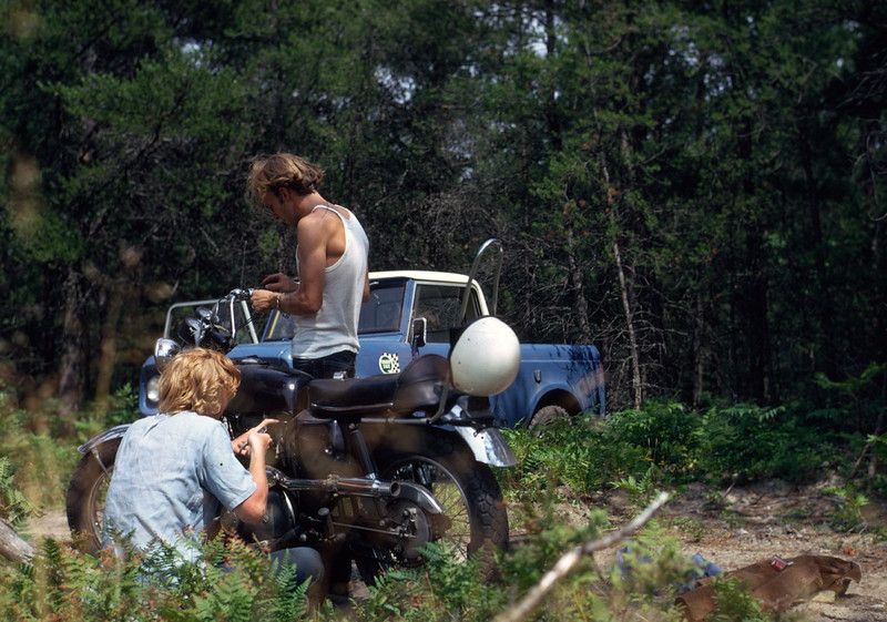 HENRY MULLANE AND DAVID GRINSTEAD AT JACKPINE BARRENS IN MICHIGAN UP MAYBE 1967.JPG