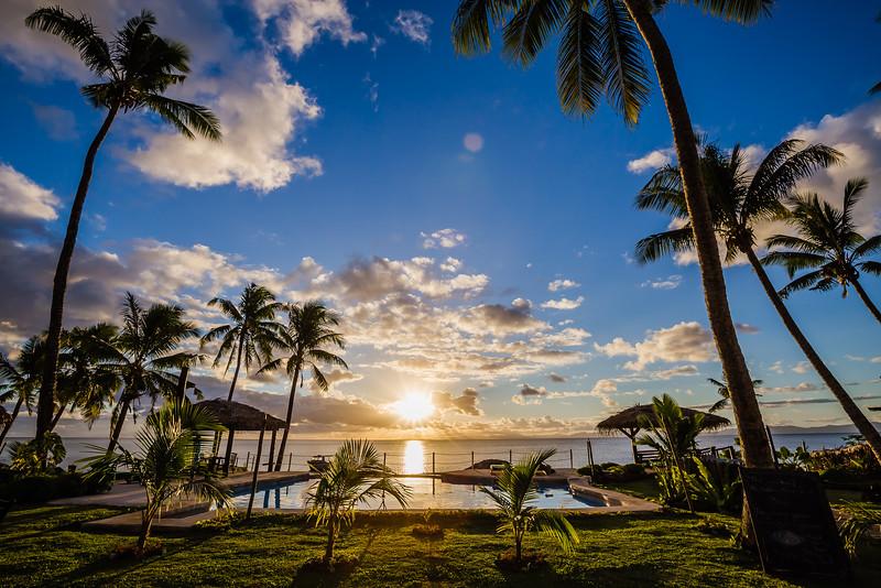 Sunset in Fiji on Taveuni Island