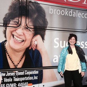 Linda Wang and her bus