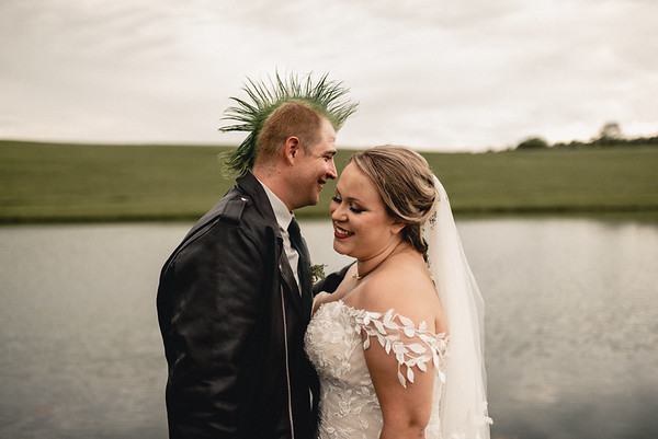 Adrienne + Zach Boho Punk Wedding