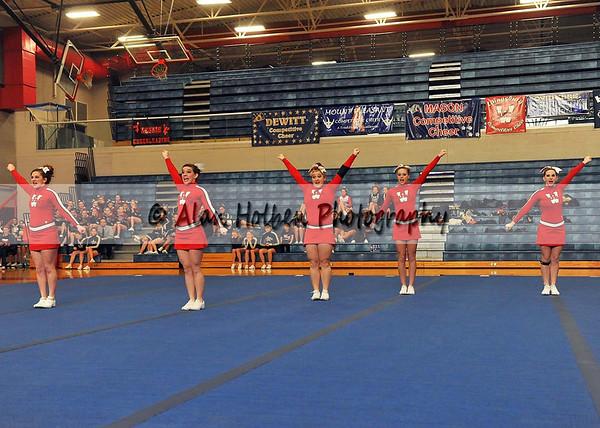 Cheer at Mason Feb 4 - Laingsburg varsity - Round 1